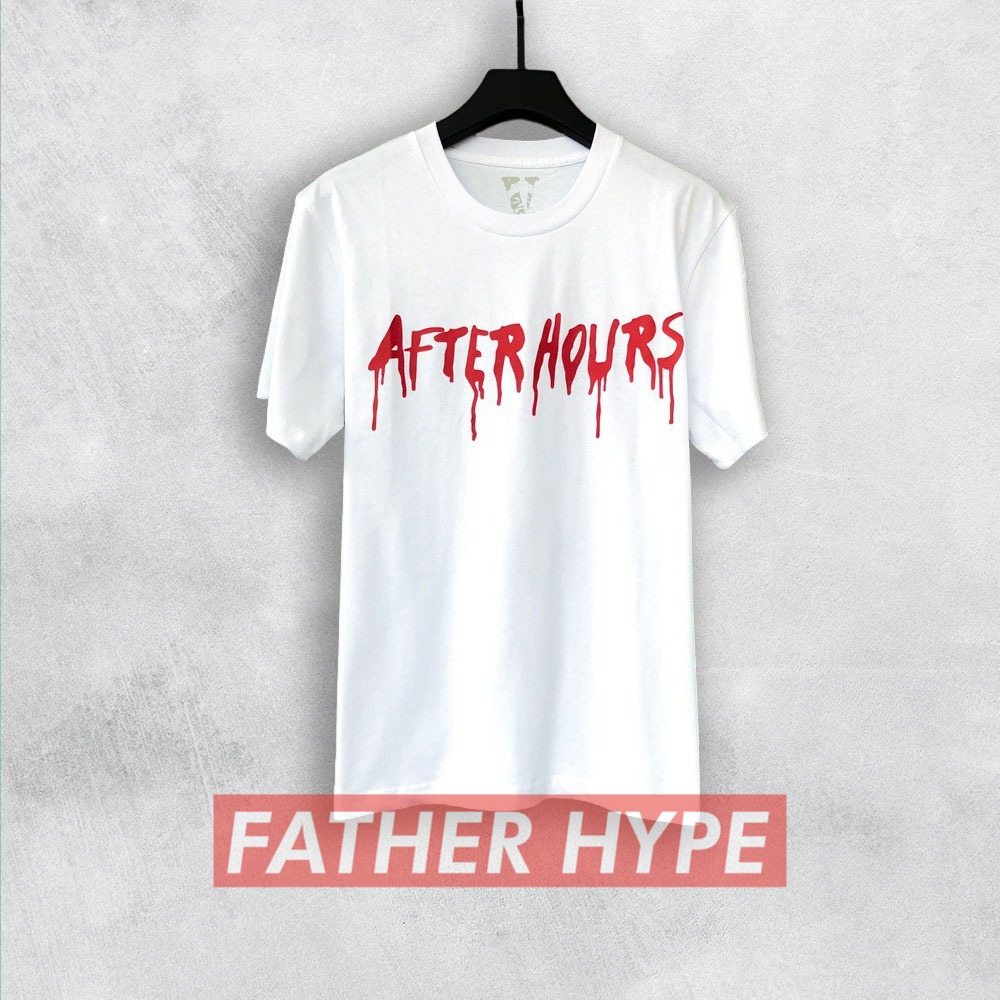 WHITE AFTER HOURS THE WEEKND WEEKEND VLONE LOGO TSHIRT TEE